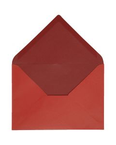 Envelope, envelope size 11,5x16 cm, 100 g, red/claret, 10 pc/ 1 pack