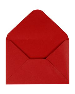 Envelope, envelope size 11,5x16 cm, 110 g, red, 10 pc/ 1 pack