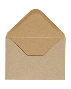 Envelope, envelope size 11,5x16 cm, 110 g, natural, 10 pc/ 1 pack