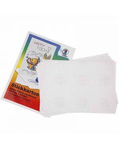 Cross Stitch Card, 3x3 holes per. cm, 300 g, white, 10 sheet/ 1 pack