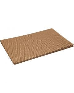 Corrugated Card, 25x35 cm, 120 g, 10 sheet/ 1 pack