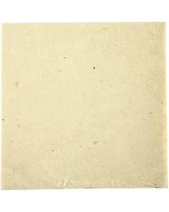 Handmade fabric paper, 20x20 cm, 70 g, off-white, 10 sheet/ 1 pack
