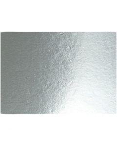 Metallic Foil Card, A4, 210x297 mm, 280 g, silver, 10 sheet/ 1 pack