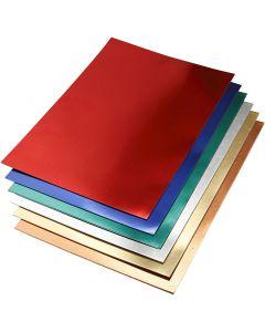 Metallic Foil Card, A2, 420x600 mm, 280 g, assorted colours, 30 ass sheets/ 1 pack