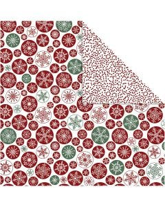 Design Paper, ice erystals and dots, 30,5x30,5 cm, 180 g, 5 sheet/ 1 pack