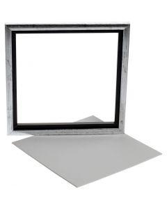 Framed Canvas Panel, size 25x25 cm, white, 1 pc