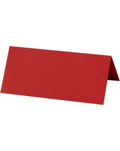 Place cards, size 9x4 cm, 220 g, red, 20 pc/ 1 pack