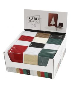 Cards and Envelopes, card size 10,5x15 cm, envelope size 11,5x16,5 cm, 120 set/ 1 pack