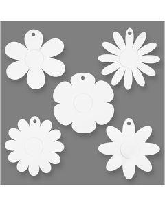 Flowers, D: 20 cm, 400 g, white, 5x3 pc/ 1 pack