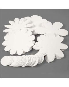 Flowers, D: 20 cm, 400 g, white, 5x20 pc/ 1 pack