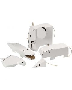 Flat-pack animals, size 15-26 cm, thickness 1,5 mm, 5 pc/ 1 pack