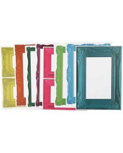 Frames, size 26,2x18,5 cm, bold colours, 16 ass sheets/ 1 pack