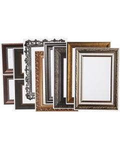 Frames, size 26,2x18,5 cm, metallic colours, 16 ass sheets/ 1 pack