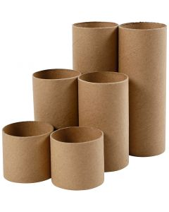 Cardboard tube, L: 4,7+9,3+14 cm, D: 5 cm, 6 pc/ 1 pack