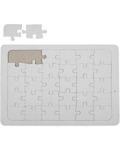Jigsaw Puzzle, size 21x30 cm, white, 1 pc