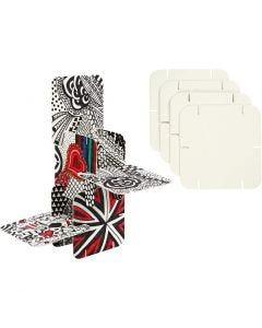 Construction Pieces, size 9,3x9,3 cm, white, 200 pc/ 1 pack