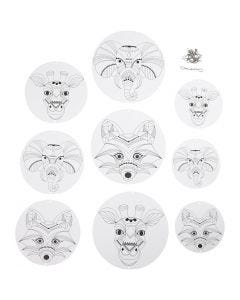 Mobile Ornaments with Motifs, D: 12+15+18 cm, 300 g, white, 3 set/ 1 pack