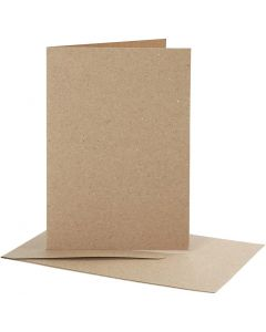 Blank Cards With Envelope, card size 10,5x15 cm, envelope size 11,5x16,5 cm, 10 set/ 1 pack