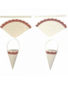 Cones, H: 13 cm, 160 g, 10 pc/ 1 pack