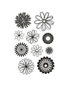 Clear Stamps, flowers, 11x15,5 cm, 1 sheet