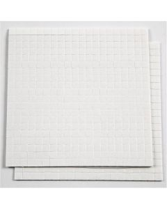 3D Foam Pads, size 5x5 mm, thickness 1 mm, white, 2 sheet/ 1 pack, 2x400 pc