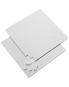 3D Foam Pads, size 5x5 mm, thickness 2 mm, white, 2 sheet/ 1 pack, 2x400 pc