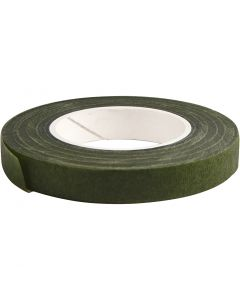 Floral Tape, W: 12 mm, dark green, 27 m/ 1 roll