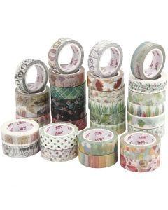Washi Tape, W: 15 mm, 180x10 m/ 1 pack