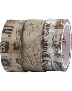 Washi Tape, L: 5 m, W: 15 mm, 3 roll/ 1 pack