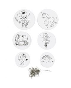 Mobile Ornaments with Motifs, D: 12+15+18 cm, 300 g, white, 20 set/ 1 pack