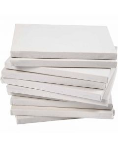 Stretched Canvas, A5, size 14,8x21 cm, 280 g, white, 80 pc/ 1 pack