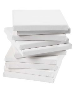 Stretched Canvas, size 15x15 cm, 280 g, white, 80 pc/ 1 pack