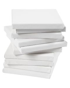 Stretched Canvas, size 20x20 cm, 280 g, white, 80 pc/ 1 pack