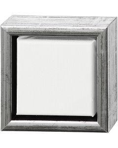 ArtistLine Canvas with frame, size 14x14 cm, antique silver, white, 1 pc