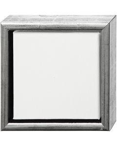 ArtistLine Canvas with frame, size 19x19 cm, antique silver, white, 1 pc