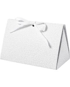 Folding gift box, dots, size 15x7x8 cm, 250 g, grey, 3 pc/ 1 pack