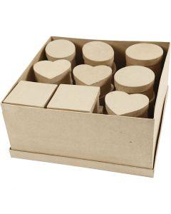 Medium boxes, H: 5 cm, D: 10-12 cm, 4x7 pc/ 1 pack