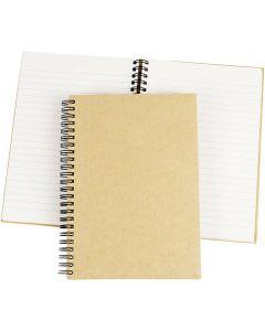 Spiral Bound Notebook, A5, 60 g, brown, 1 pc