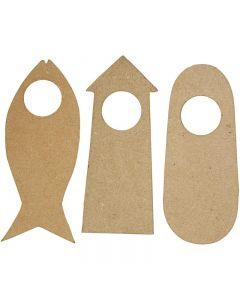Door Signs, size 10x25 cm, 6 pc/ 1 pack