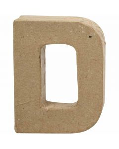 Letter, D, H: 10 cm, W: 7,7 cm, thickness 1,7 cm, 1 pc