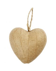 Heart, H: 6,5 cm, 9 pc/ 1 pack