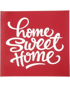 Screen Stencils, home sweet home, 20x22 cm, 1 sheet