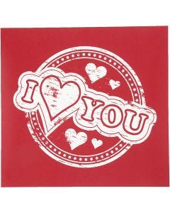 Screen Stencils, I love you, 20x22 cm, 1 sheet