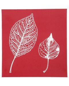 Screen Stencils, leaves, 20x22 cm, 1 sheet