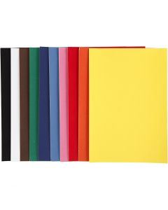Velour Paper, A4, 210x297 mm, 140 g, assorted colours, 10x5 sheet/ 1 pack