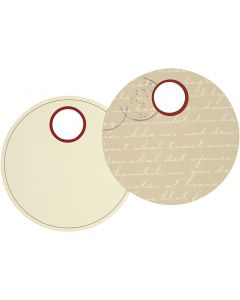 Gift Tags, D: 9 cm, 300 g, 20 pc/ 1 pack