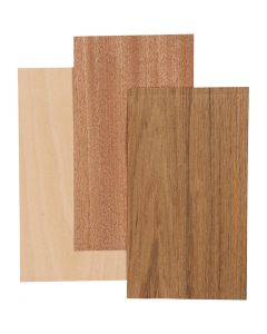 Wood Veneer, 12x22 cm, thickness 0,75 mm, 3 sheet/ 1 pack