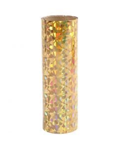 Deco Foil, W: 15,5 cm, thickness 0,02 mm, gold, 50 cm/ 1 roll