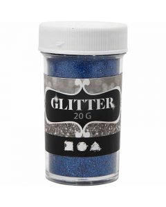 Glitter, H: 60 mm, D: 35 mm, blue, 20 g/ 1 tub