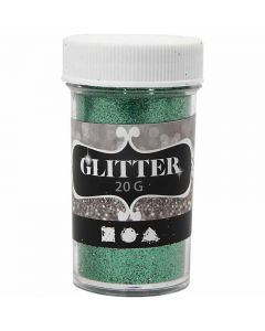 Glitter, H: 60 mm, D: 35 mm, green, 20 g/ 1 tub